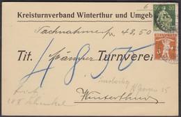 1919   /   KREISTURNVERBAND WINTERTHUR ( TURNEN )  /  NACHNAHME - Briefe U. Dokumente