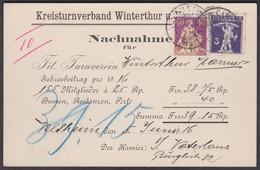 1916   /   KREISTURNVERBAND WINTERTHUR ( TURNEN )  /  NACHNAHME - Briefe U. Dokumente