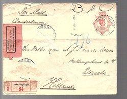 'BERICHT VAN ONTVANGST' Batoedjadar V.d. Werve 2e Luitenant Artillerie Ned. Indisch Leger (459) - Netherlands Indies