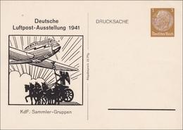 Ganzsache Luftpost Ausstellung 1941, KDF Sammler Gruppen, Drucksache Karte - Germany