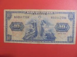 Bank Deutscher Länder : 10 MARK 1949 CIRCULER (B.11) - [ 7] 1949-… : RFD - Rep. Fed. Duitsland
