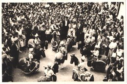 ES VILAFRANCA DE PENEDES - Carte Photo - Baile De Los Caballitos - Cavallets - Cavaliers - Geants - Animée - Belle - Carnaval