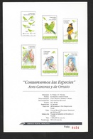 Mexique Feullet Numérote Protaction Des Espèces Avec Les N° 1533 Et 1537 à 1541 Série Espèces Protégées  Oiseaux Soldé ! - Parrots