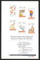 Mexique Feullet Numérote Protaction Des Espèces Avec Les N° 1536 Et 1552 à 1556 Ara Et Mammifères Lamantin Soldé ! - Parrots
