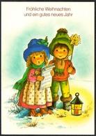 D4052 - TOP Glückwunschkarte Weihnachten - Kinder Sternensinger Laterne - Noël