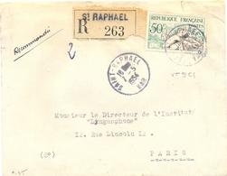 SAINT-RAPHAEL VAR RECOMMANDÉ TàD Du 7-5-1954 – TIMBRE AVIRON 50 F. YT 964 - Postmark Collection (Covers)