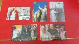 5 Telecartes Pape Jean-Paul II - Personajes