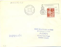 PARIS 44 R. DE GRENELLE (17e) OMec SECAP 14-5-1958 CONGRÈS / MONDIAL / DE LA FAMILLE / PARIS 16.23 JUIN - Mechanical Postmarks (Advertisement)
