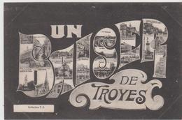 AUBE - UN BAISER De TROYES - Carte Multi - Vues écrite - Troyes