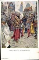 Artiste Cp Printz, Die Jungfrau Von Orleans, Schiller Zyklus, Jeanne D'Arc - Christianisme