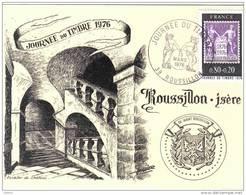 Carte Postale 38. Roussillon Journée Du Timbre 1976 Escalier Du Chateau   Trés Beau Plan - Non Classés