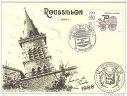 Carte Postale 38. Roussillon Journée Du Timbre 1988  Trés Beau Plan - Non Classés