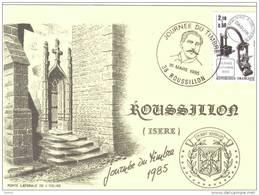 Carte Postale 38. Roussillon Journée Du Timbre 1985 Daguin Trés Beau Plan - Non Classés