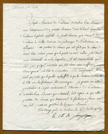 Louis Pierre De CHASTENET - Comte De PUYSEGUR  ( RABASTENS - Tarn (1727 - 1807) - 1769 - Autographes