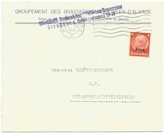217 - STRASSBURG ELS 2 - 1941 - Entête Groupement Des BRASSERIES MOBILISEES D'ALSACE - Bière - - Marcofilia (sobres)