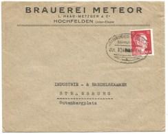 219 - Ambulant STRASSBURG SAARBURG - 1942 - Entête BRAUEREI METEOR HOCHFELDEN - Bière - SARREBOURG - - Postmark Collection (Covers)