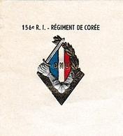 RÉGIMENT DE CORÉE - Papier à Lettre  à L'entête Du 156° R.I. Régiment De CORÉE - Historische Documenten