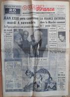 1960.Pape Jean XXIII Couronné.La France Dans Marché Commun Le 01/01/1959.Accident De Camion.Cirque Pinder Au Mans. - Journaux - Quotidiens