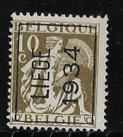 Luik 1934 Typo Nr. 285A - Préoblitérés