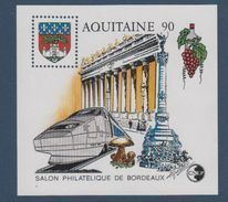 CNEP-1990-N°12** AQUITAINE.Salon Philathélique De BORDEAUX. - CNEP