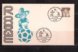 World Cup-1970,Card, Cancel, Football, Soccer, Fussball,calcio - 1970 – Mexique