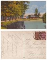 AK 1922, Lübbenau, Spree Mit Schloßmühle - Lübbenau