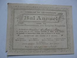 VIEUX PAPIERS - INVITATION AU BAL ANNUEL : LOUVECIENNES - Offert Par La Société De Saint Fiacrele - Faire-part