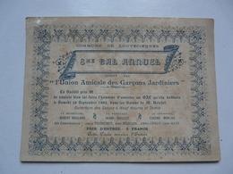 VIEUX PAPIERS - 8 éme BAL ANNUEL : LOUVECIENNES - Donné Par L'Union Amicale Des Garçons Jardiniers - Faire-part
