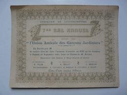 VIEUX PAPIERS - 7 éme BAL ANNUEL : LOUVECIENNES - Offert Par L'Union Amicale Des Garçons Jardiniers - Faire-part