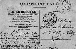 (139) CPA   PUB  Paris  Cafés Des Caids  Faubourg St Martin  (Bon Etat) - District 10