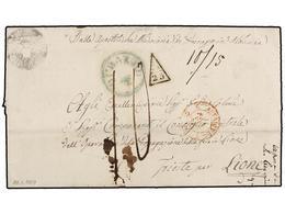 ALBANIA. 1859 (29 Enero). DURAZZO A LION (Francia). Carta Completa Con Texto Enviada Por El Arzobispo Católico De Durazz - Zonder Classificatie