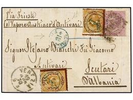 ALBANIA. 1870. Cover Ex The Bianchi Correspondence From VENICE To SCUTARI (Albania) Endorse 'via Trieste Col Vapore Aust - Zonder Classificatie