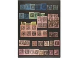 */° ARGENTINA. 1856-77. CORRIENTES. Conjunto De Sellos En Nuevo Y Usado En Tres Fichas. Contiene Bloques En Nuevo Y Usad - Zonder Classificatie