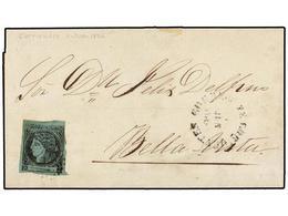 ARGENTINA. Sa.4a. 1864 (8 Junio). CORRIENTES A BELLAVISTA. (2 Cts.) Negro Y 5. Azul Verde, Mat. ÓVALO DE PUNTOS Y Fechad - Zonder Classificatie