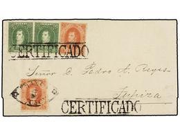 ARGENTINA. Sc.11 (2), 12 (2). 1864 (12 Noviembre). JUJUY A TUPIZA. 5 Ctvos. Rojo (2) Y 10 Ctvos. Verde (2) Para Completa - Zonder Classificatie