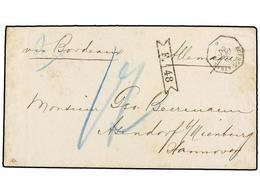 ARGENTINA. 1869. BUENOS AIRES A HANNOVER (Alemania). Fechador Octogonal Francés BUENOS AYRES/* Y Marca De Intercambio F. - Zonder Classificatie