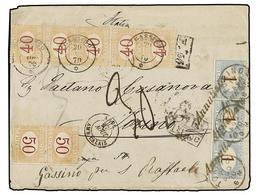ARGENTINA. 1870. BUENOS AIRES A TORINO. Circulada Sin Sellos, A La Llegada Tasada Con Sellos Italianos De 1 Lira Tira De - Zonder Classificatie