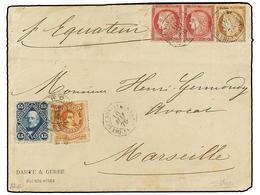 ARGENTINA. 1876. BUENOS AIRES A MARSELLA (Francia). Sobre Circulado Con Sellos Argentinos De 5 Cts. Rojo Y 15 Cts. Azul  - Zonder Classificatie