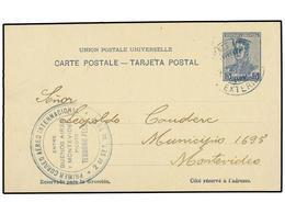 ARGENTINA. 1917 (2 Septiembre). BUENOS AIRES A MONTEVIDEO. Circulada En El PRIMER VUELO Realizado Por El Piloto TEODORO  - Zonder Classificatie