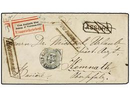 BELGICA. Of.35. 1881. SAINT JOSSE-TEN-NOODE To KEMNATH (Germany). Envelope Franked With 50 Cts. Grey Stamp. ASSURE Mark  - Zonder Classificatie