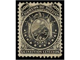 * BOLIVIA. Sc.19. 1868. 500 Ctvos. Once Estrellas. Color Fresco, Conservando Toda Su Goma Original. Centraje Excepcional - Zonder Classificatie