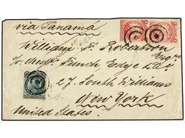 BOLIVIA. Sc.28 (2), 32. 1892. BOLIVIA A NEW YORK. 1 Ctvo. Rosa Carmín (2) Y 20 Ctvos. Verde. - Zonder Classificatie
