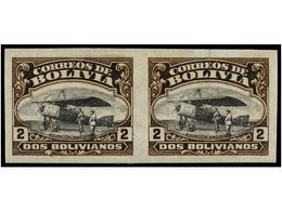 **/* BOLIVIA. Sc.CA 1, 3, 5, 6. 1924. 10 Ctvos., 25 Ctvos., 1 Bolivar Y 2 Bolivares En Pareja SIN DENTAR. Juego Completo - Zonder Classificatie