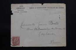 CRÊTE - Devant D'enveloppe Du Corps D'Occupation Français De Crête Pour Toulouse En 1908 - L 54517 - Unclassified