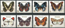 Rwanda Ruanda 1979 OCBn° 909-916 *** MNH Cote 15,00 Euro Faune Papillons Vlinders Butterflies - Papillons