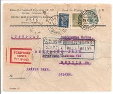 Air Mail Moskwa To Berlin 25.5.26 (Air Mail Since 1.5.26!) Banque Pour Le Commerce Extérieur URSS - 1923-1991 UdSSR