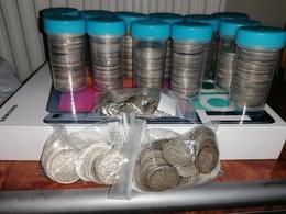 Lot Monnaies Argent 3 Kg 700 Environ Poids Fin - Coins & Banknotes