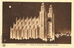 CPA CASABLANCA ( MAROC ) Eglise Du Cacré Coeur Voyagée - Casablanca