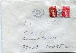 Lettre Avec Sabine 1.20 F Et Complément 0.10 1er Jour Du Tarif à 1.30F - 1961-....