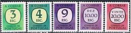 Portugal, 1967/84, # 74/5, 77/9, Porteado, MNH - Unused Stamps